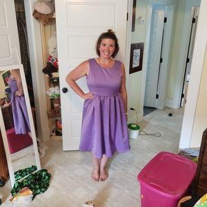 Vintage-Inspired Lavender Bridesmaid Dress sz 16